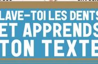 «Lave-Toi Les Dents Et Apprends Ton Texte» au Café de la Gare